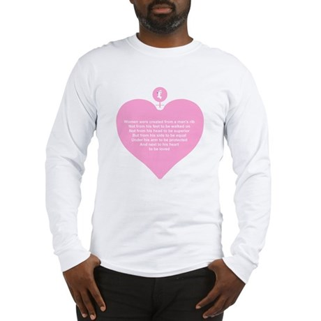 Pink Heart Long Sleeve T-Shirt