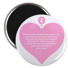 "Pink Heart 2.25"" Magnet (10 pack)"