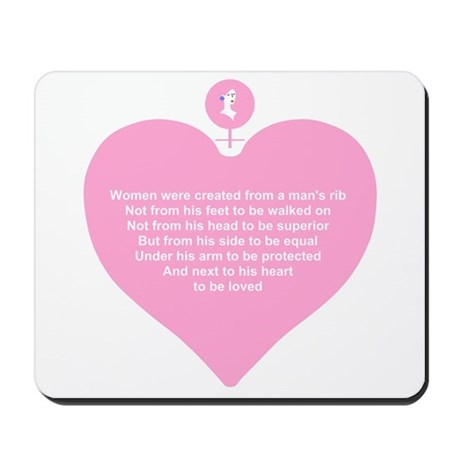 Pink Heart Mousepad