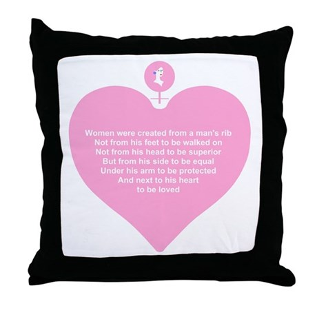 Pink Heart Throw Pillow