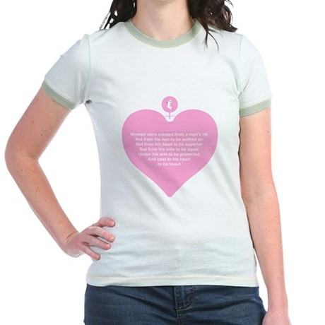 Pink Heart Jr. Ringer T-Shirt