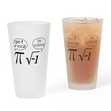 Get Real, Be Rational Math Humor Drinking Glass