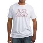 just scrap (pink) Fitted T-Shirt