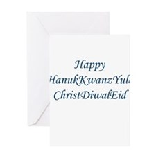 HanukKwanzYule ChristDiwalEid Greeting Cards