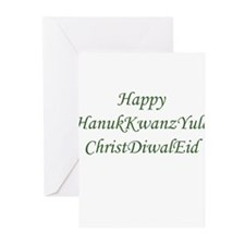 HanukKwanzYule ChristDiwalEid Greeting Cards