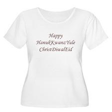HanukKwanzYule ChristDiwalEid Plus Size T-Shirt