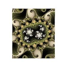 ipad_case fractal evj greeny Throw Blanket