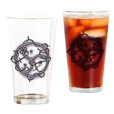 bdsm logo single barb wire Drinking Glass