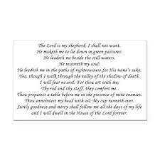 psalm23 Rectangle Car Magnet