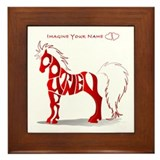 Courtney red horse Framed Tile