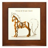 Courtney brown horse Framed Tile