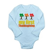 My First Thanksgiving Long Sleeve Infant Bodysuit