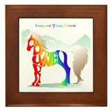 Courtney rainbow horse Framed Tile