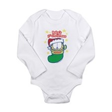 Garfield Baby 1st Christmas Long Sleeve Infant Bod