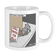 Pavlovs Dog Begging Small Mug