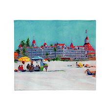 Hotel del Coronado Beach Throw Blanket