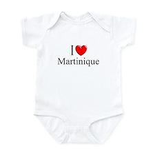 """I Love Martinique"" Infant Bodysuit"
