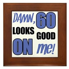 Funny 60th Birthday (Damn) Framed Tile