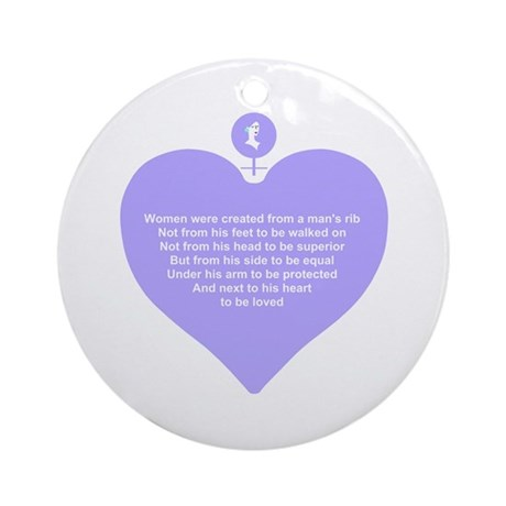 Purple Heart Ornament (Round)