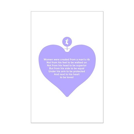 Purple Heart Mini Poster Print