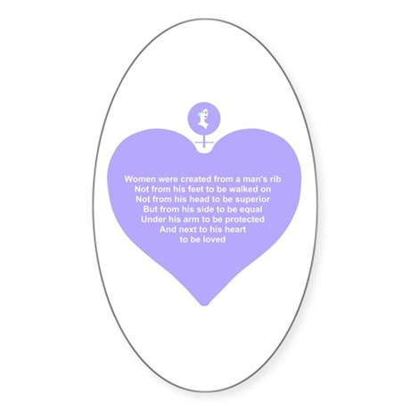 Purple Heart Oval Sticker