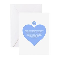 Blue Heart Greeting Cards (Pk of 10)