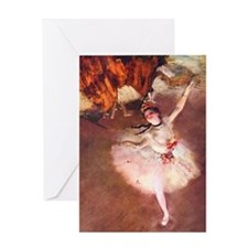 The Star (Dancer on the Stage) by Ed Greeting Card