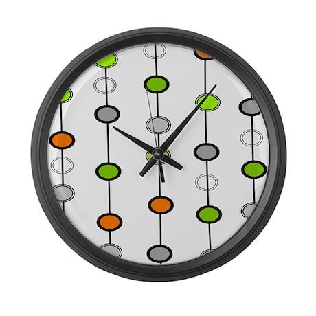 mid century modern 2 large wall clock by gailgabel