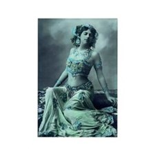Vintage Bellydance Wall Calendar  Rectangle Magnet