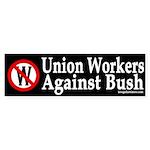Union Workers Against Bush (sticker)