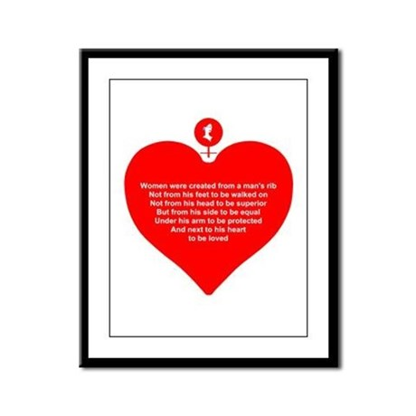 Red Heart Framed Panel Print