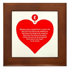 Red Heart Framed Tile