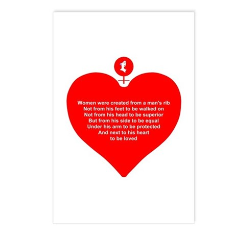 Red Heart Postcards (Package of 8)