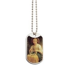 Bouguereaus Little Girls Art Calendar Dog Tags