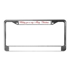 santa and girl2CARD interior4 License Plate Frame