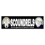 Bush and Cheney: Scoundrels (sticker)