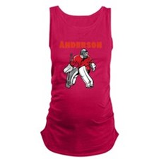 Personalized Hockey Maternity Tank Top