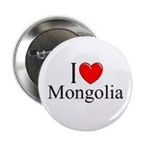 """I Love Mongolia"" Button"