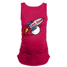 Personalized Rocket Maternity Tank Top