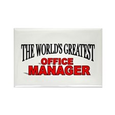 """The World's Greatest Office Manager"" Rectangle Ma"
