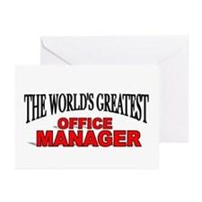 """The World's Greatest Office Manager"" Greeting Car"