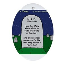RIP Mary Ornament (Oval)