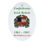 Confederate Irish Oval Ornament