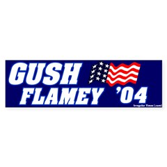 Mockery Gush Flamey Bumper Sticker