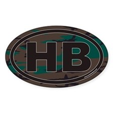 Hatchie Bottom Tennessee HB Euro Oval Decal
