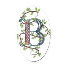 MONOGRAM LETTER B Oval Car Magnet