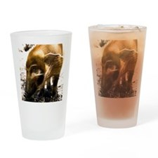 (14) Pig Profile  1966 Drinking Glass