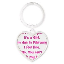 girl_feb_belly_fine Heart Keychain
