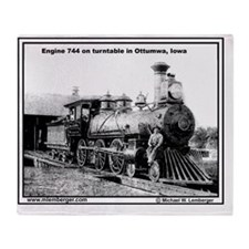 XRR- Engine 744 turntable Ottumwa-mo Throw Blanket