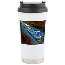 XRR-AMTRAK into sunset 2005 Eng Ceramic Travel Mug